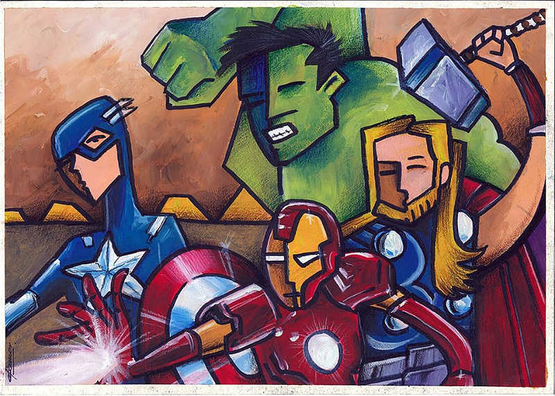 avengers - illustrazione interno