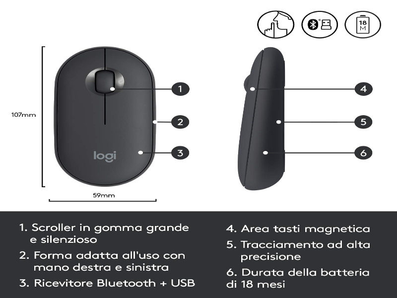 Logitech Pebble M350 - interno